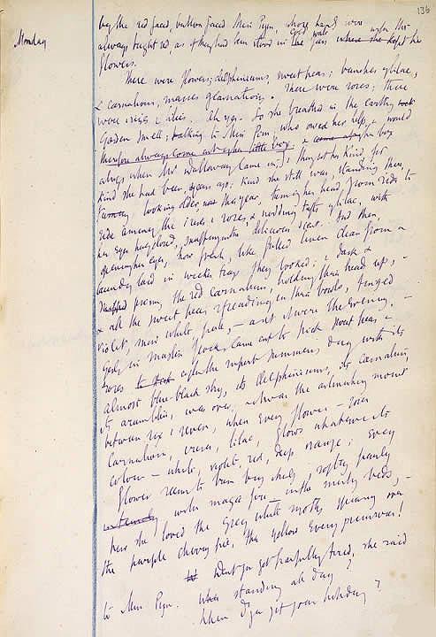Página del manuscrito de Mrs. Dalloway